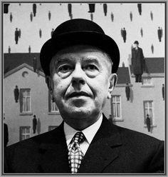 """Renè Magritte, un esponente del surrealismo Un tema chiave che si trova in quasi tutte le opere di Magritte è quello della """"visione"""". Secondo il pittore l'immagine è una cosa a sé, esiste indipendentemente dall'esistenza della cosa stessa che  #pittura #renèmagritte #surrealismo"""
