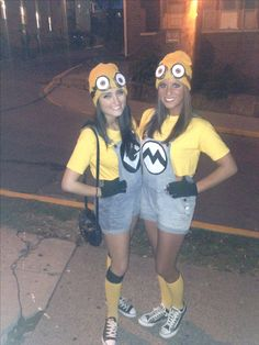 Our homemade minion costumes