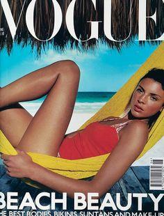 Liberty Ross, photo by Enrique Badulescu, Vogue UK, June 2000