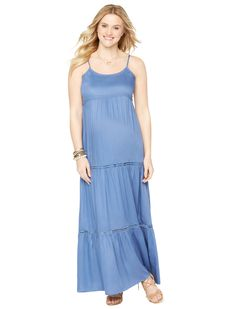 Motherhood Maternity Sleeveless Tiered Maternity Maxi Dress