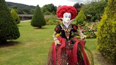 The red queen doll at Tittybottle park. Otley. West Yorkshire. Photo by Sally Heather Elizabeth Taylor .july 2016