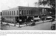 Early North side of Square ~ Mill & Madison Street, Pontiac, Illinois