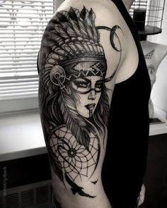 Resultado de imagen para desenho indía para tatuar