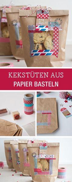 Süße Überraschung für den Valentinstag: Kekstüten für selbstgemachte Kekse selbermachen / Valentine's Day DIY: handmade cookiebags via DaWanda.com