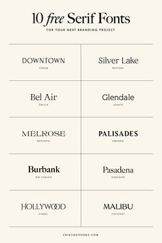 10 FREE serif fonts for your next branding and design project Free Typography Fonts, Best Serif Fonts, Typography Love, Vintage Typography, Lettering, Best Fonts For Logos, Vintage Logos, Retro Logos, Vintage Graphic