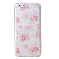 ZSTVIVA Malerei Series Iphone 6 Hülle Muster Dünn Etui Schale Iphone 6 Pink Rosa Blumen Flower Muster Schutzhülle Case Hüllen Handyhülle Tasche