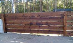 Drewniane Ogrodzenie Rancho Poziome Deski Gostynin - image 5