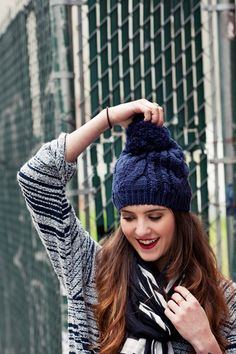 2. Keep It Natural - 9 Fashion Tips on How to Wear a Beanie ... → Hair