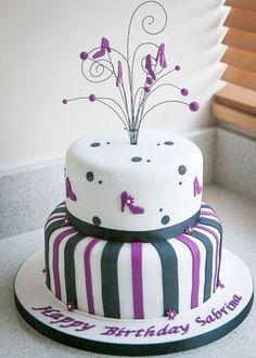 20 ideas cake designs for women girls 20 Ideen Kuchen Designs für Frauen, Mädchen 40th Cake, Adult Birthday Cakes, Birthday Cakes For Women, Cool Birthday Cakes, 35th Birthday, Paris Themed Cakes, Cake Works, Cake Makers, Girl Cakes