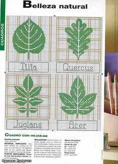 123 Cross Stitch, Cross Stitch Tree, Cross Stitch Boards, Cross Stitch Flowers, Cross Stitch Designs, Cross Stitch Embroidery, Cross Stitch Patterns, Crochet Leaf Patterns, Knitting Paterns