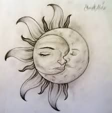 Image result for sun and moon tattoos