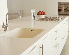 Gorgeous white Corian work surfaces!