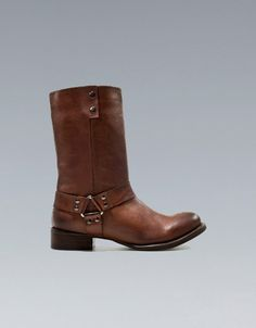 BIKER ANKLE BOOT - Shoes - Woman - ZARA United States