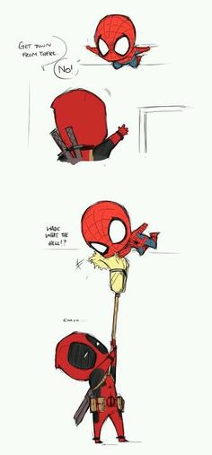 Deadpool and Spiderman