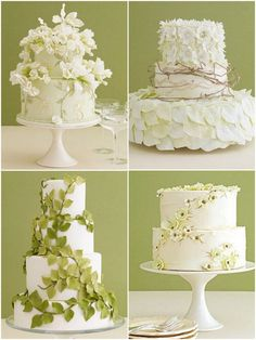 Wedding Cakes Adorned with Natural Details