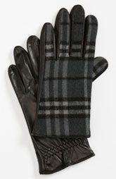 Burberry 'Luca' Check Gloves