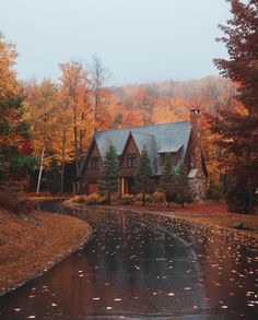 Happy first day of fall! Can't wait to live the New England cabin life again this year. Beautiful Homes, Beautiful Places, Autumn Scenery, Autumn Aesthetic, Autumn Cozy, Fall Wallpaper, Fall Pictures, Autumn Inspiration, Fall Halloween
