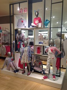 Visual merchandising Kids fashion display spring