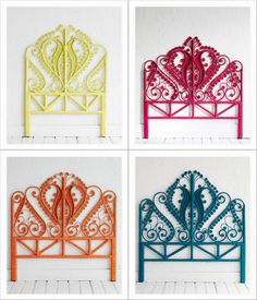 Wicker headboards - for vintage Mexican items for your home, visit www.mainlymexican.com #Mexico #Mexican