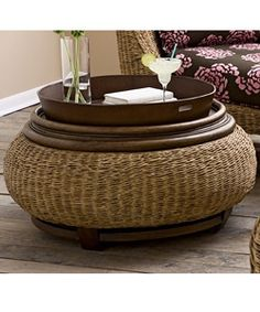 Bahama Breeze Abaca Storage Ottoman | Overstock.com Shopping - Great Deals on Ottomans