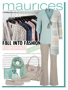 """The Perfect Blouse with maurices: Contest Entry"" by iraavalon ❤ liked on Polyvore featuring moda ve maurices"