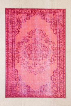 Affordable Home Decor | Budget decorating ideas | Chroma Overdyed Rug in Pink, from $199; at Urban Outfitters