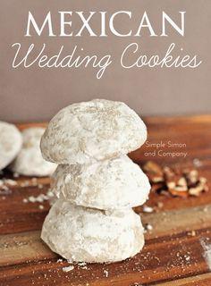 Mexican Wedding Cookies  --  simple recipe, scrumptious pecan shortbread cookies!