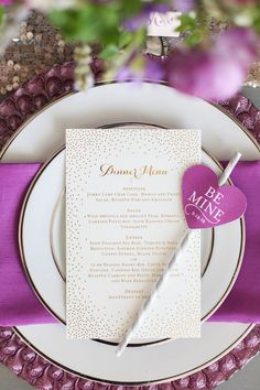 Radiant Orchid Wedding Inspiration: Michelle Leo Events  - Jacque Lynn Photography http://www.theperfectpalette.com/2014/05/radiant-orchid-wedding-inspiration.html?utm_source=feedburner