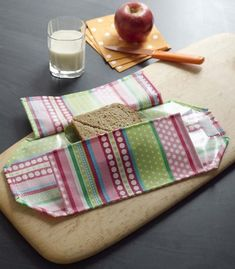 Reusable Sandwich wrap Tutorial...this could be a Quessadilla wrap or a burrito wrap or a ....well you get where I'm going....MADE from TUL...I love that fabric!