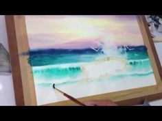 How to paint sea in watercolor 2