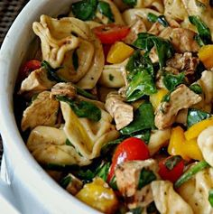 Tortellini with chicken and vegetables
