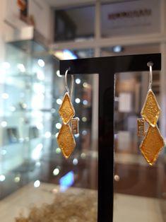 #kolczyki #srebrozłocone #diamenty #biżuteriaartystyczna #margotstudio #biżuteriapoznań