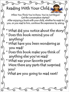 Reading With Your Child. Need to look at but it might be a helpful parent handout.