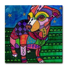 dog coasters  Ceramic Tile  Chihuahua Art Dog by HeatherGallerArt, $20.00