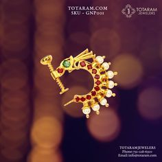Nose Jewelry, Diamond Jewelry, Jewelry Gifts, Jewelery, Nath Nose Ring, Nose Rings, Nose Ring Designs, Latest Jewellery, Gold Bangles