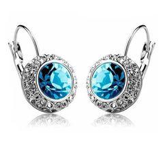 Shiny berlian imitasi Penuh Anting-Anting 2014 Austria Kristal Anting Pernikahan perhiasan # E00
