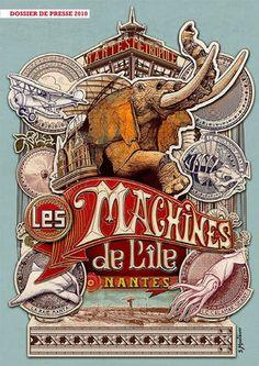 フランスの機械仕掛けの遊園地「レ・マシーン・ド・リル(Les Machines de l'ile)」 - NAVER まとめ