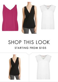 """""""TANK TOPS"""" by fultonhoward ❤ liked on Polyvore featuring Velvet, MICHAEL Michael Kors and Dorothy Perkins"""