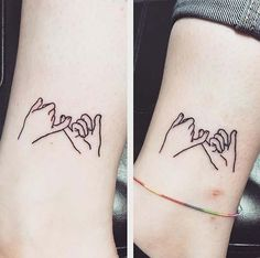 Best Friend Pinky Promise Tattoo Idea for Women