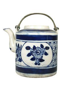 Tea for you and me.  Chinese blue teapot