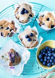 Low FODMAP Recipe and Gluten Free Recipe - Maple-glazed blueberry muffins  http://www.ibs-health.com/low_fodmap_maple_glazed_blueberry_muffins.html