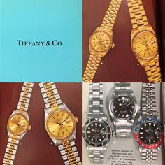 70's Tiffany&Co. Vintage Rolex, Vintage Watches, Rolex Watches, Tiffany, Bracelet Watch, Stainless Steel, Bracelets, Instagram Posts, Accessories