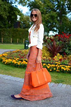 I love her outfit. | Herm��s Garden Party Bags?   | Pinterest ...