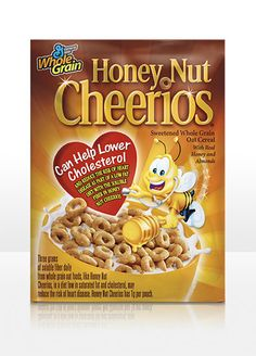 General Mills® Honey Nut Cheerios® Oat Cereal  Six 12.25-oz. boxes.  Item #: 740721  A heart-healthy breakfast sweetened with honey and almonds.