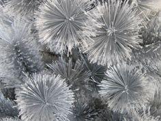 love silver hangs silvery balls in trees