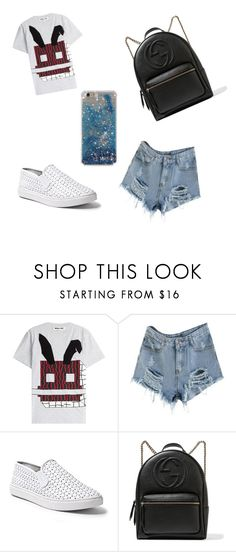 """""""Escolar"""" by jadyeleng on Polyvore featuring McQ by Alexander McQueen, Steve Madden and Gucci"""