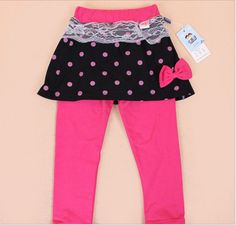 Spring Summer Girls pants pantskirt trousers Render pants Girls' Leggings Children's clothing divided Skirt-pants skirt 4colors