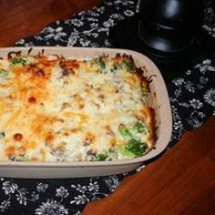 Broccoli Hamburger Casserole - A quick & easy throw together meal.  08/16