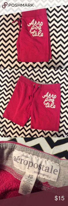 Hot pink Aeropostale burmuda short Size xs * please note the spot is not a stain it is a pixel issue with my camera* Aeropostale Shorts Bermudas