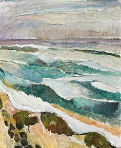 Grace Cossington Smith Waves, 1946 28.5 x 23.0 cm oil on board